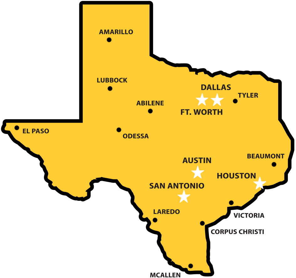 Texas Map Dallas Texas Lottery | Claim Center Locations