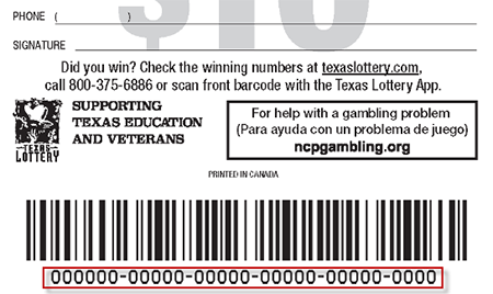 Example of Back of QUICKTICKET